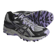 Asics GEL-Trabuco 13 Trail Running Shoes (For Women) in Platinum/Black/Violet - Closeouts