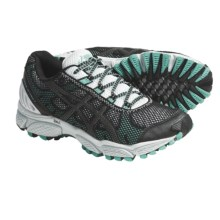 Asics GEL-Trail Attack 7 Trail Running Shoes (For Women) in Black/Silver/Aqua - Closeouts