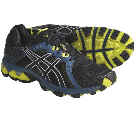 Asics GEL-Trail Sensor 5 Trail Running Shoes (For Men) in Black/Onyx/Orion Blue
