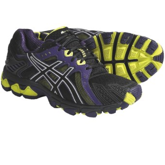 Asics GEL-Trail Sensor 5 Trail Running Shoes (For Women) in Onyx/Black/Lime