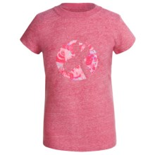 ASICS Gold Ribbon Graphic T-Shirt - Short Sleeve (For Big Girls) in Pink Heahter - Closeouts