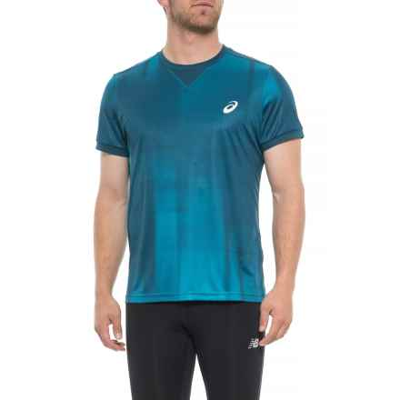 ASICS GPX Shirt - Short Sleeve (For Men) in Ghost Shadow/Blue Steel - Closeouts