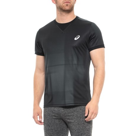 24322af6de4a76 ASICS GPX Shirt - Short Sleeve (For Men) in Ghost Shadow/Performance Black.  Tap to expand