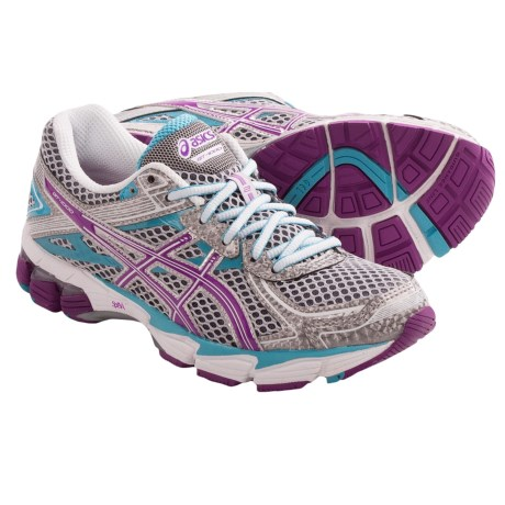 Asics GT-1000 2 Running Shoes (For Women) in Lightning/Purple/Turquoise