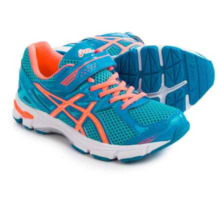 ASICS GT-1000 3 PS Running Shoes (For Little Kids) in Turquoise/Hot Coral/Blue - Closeouts