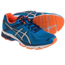 ASICS GT-1000 4 Running Shoes (For Men) in Electric Blue/Silver/Flash Orange - Closeouts