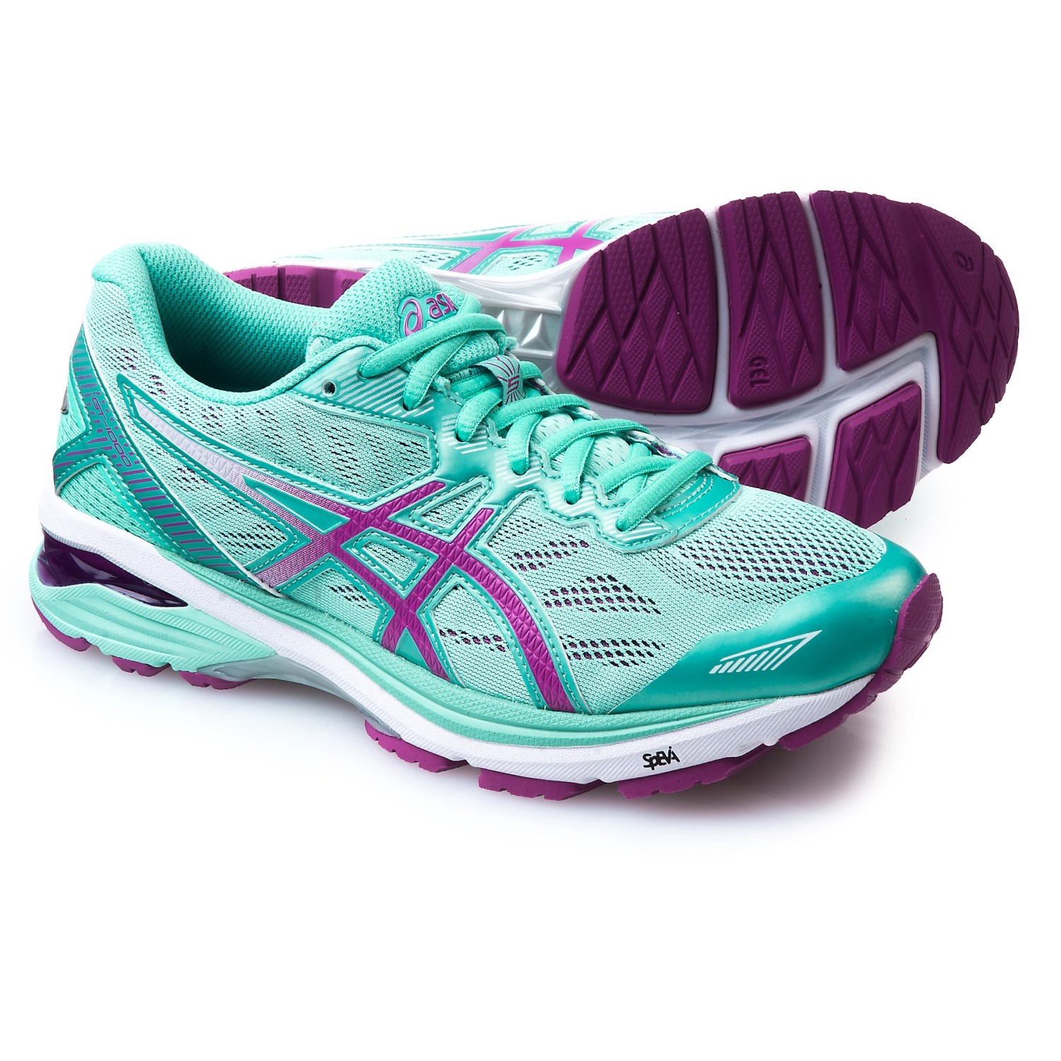 ASICS GT-1000 5 Running Shoes (For Women) in Mint/Orchid/
