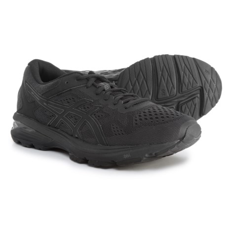 ASICS GT-1000 6 Running Shoes (For Men) in Black/Black/Silver