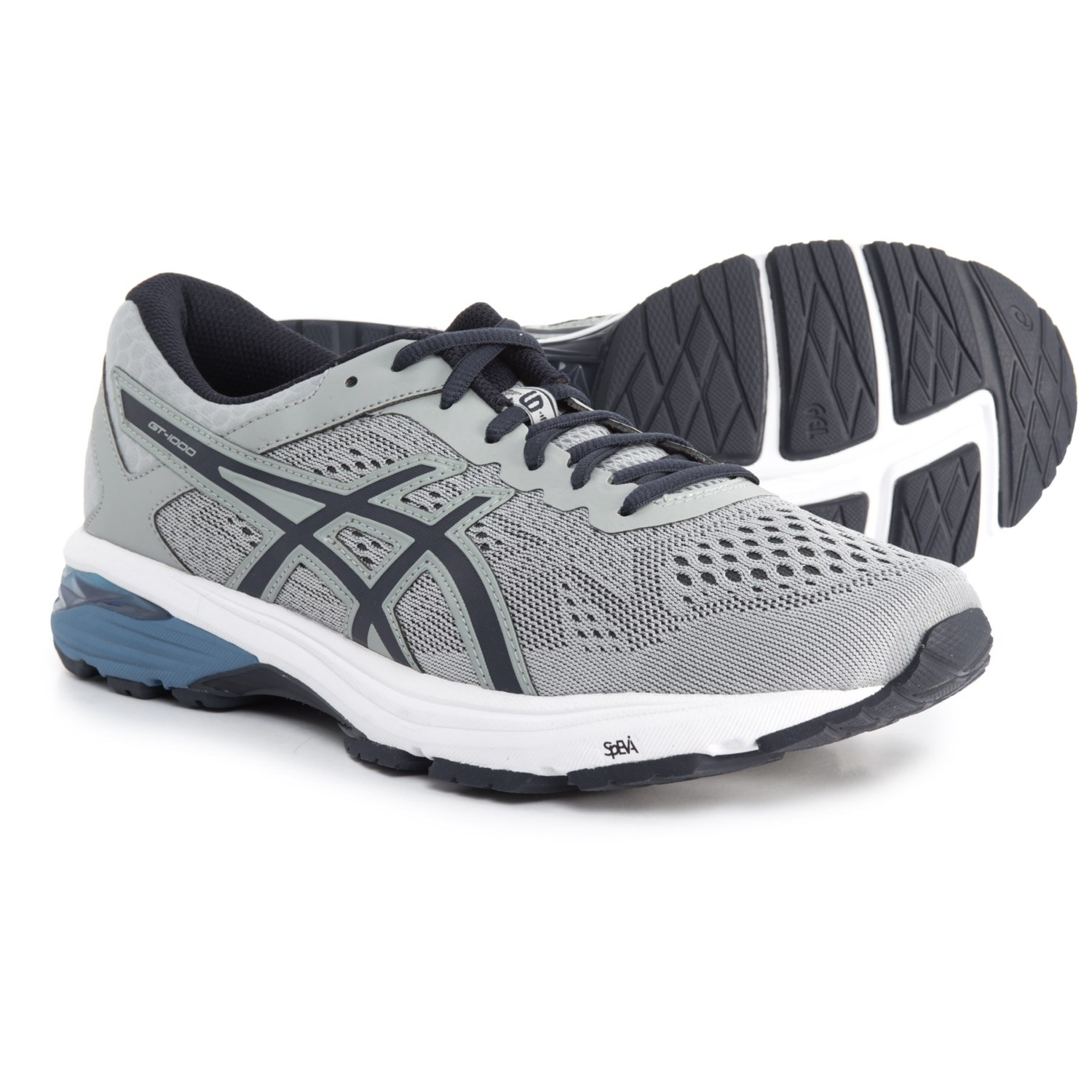 ASICS GT-1000 6 Running Shoes (For Men) in Mid Grey/Peacoat