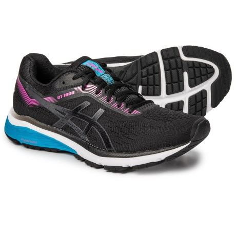 sports shoes 3ad1b 7443f ASICS GT-1000 7 Running Shoes (For Women) in Black Pink Glow