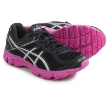 ASICS GT-1000 GS Running Shoes (For Kids and Youth) in Black/Silver/Pink Ribbon - Closeouts