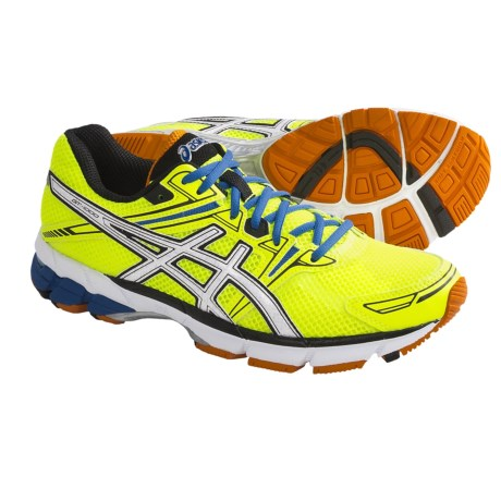 Asics GT-1000 Running Shoes (For Men) in Highlighter Yellow/White/Blue