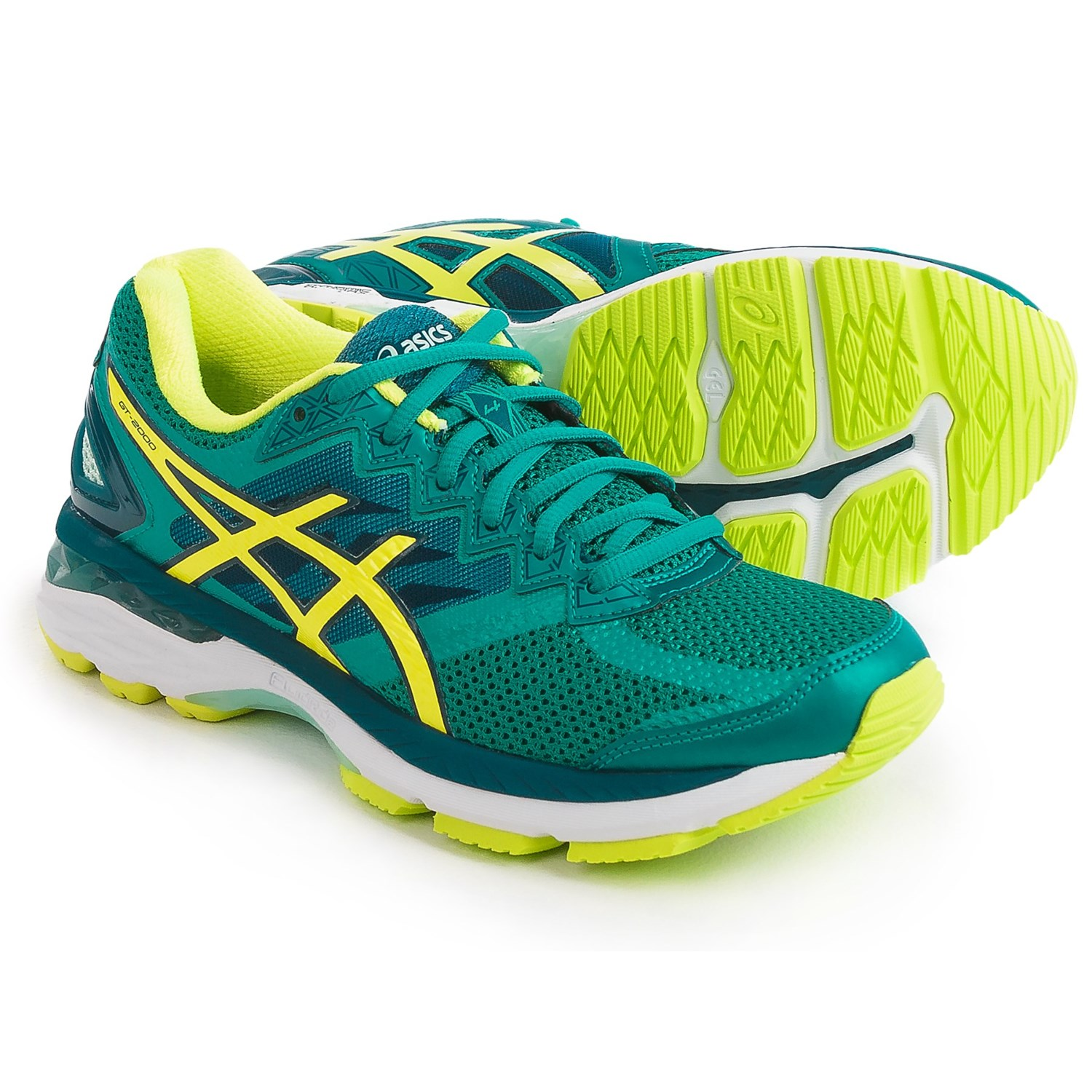 asics yellow running shoes