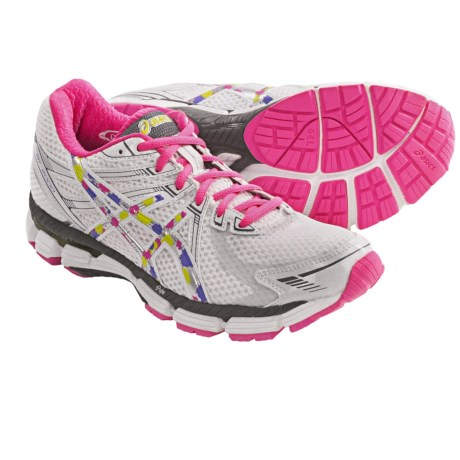 Asics GT-2000 Running Shoes (For Women) in White/Rainbow/Neon Pink