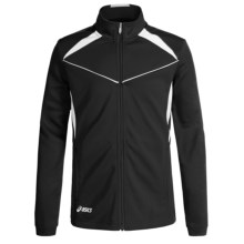 ASICS Jr. Cali Jacket (For Big Kids) in Black/White - Closeouts