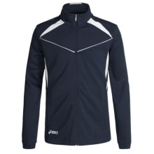 ASICS Jr. Cali Jacket (For Big Kids) in Navy/White - Closeouts