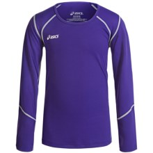 ASICS Jr. Volleycross Shirt - Long Sleeve (For Big Girls) in Purple/Steel Grey - Closeouts