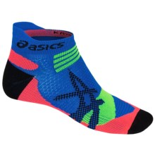 ASICS Kayano Single Tab Socks - Below the Ankle (For Men and Women) in Air Force Blue/Green Gecko - Closeouts