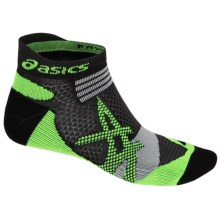 ASICS Kayano Single Tab Socks - Below the Ankle (For Men and Women) in Black/Green Gecko - Closeouts