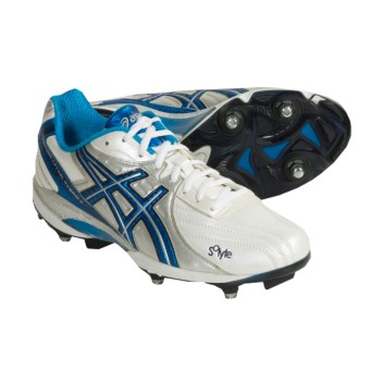 Asics Lethal Hybrid Field Sport Shoes (For Men) in White/Vivid Blue/Silver