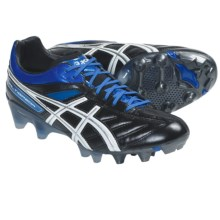 Asics Lethal Tigreor 4 IT Soccer Shoes (For Men) in Black/White/Pacific Blue - Closeouts
