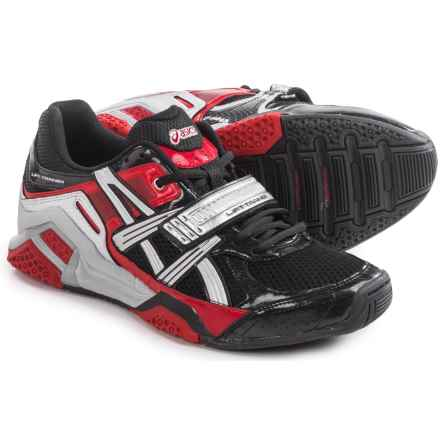 ASICS Lift Trainer Shoes (For Men) in Black/Silver/Red - Closeouts
