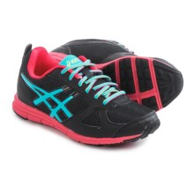 ASICS Lil' Muse Fit Running Shoes (For Little and Big Kids) in Black/Turquoise/Raspberry - Closeouts