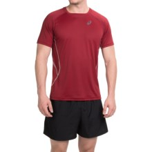 ASICS Lite-Show Shirt - Short Sleeve (For Men) in Deep Ruby - Closeouts