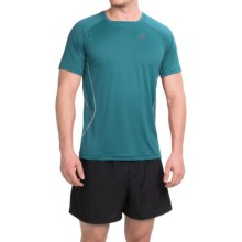 ASICS Lite-Show Shirt - Short Sleeve (For Men) in Mosiac Blue - Closeouts
