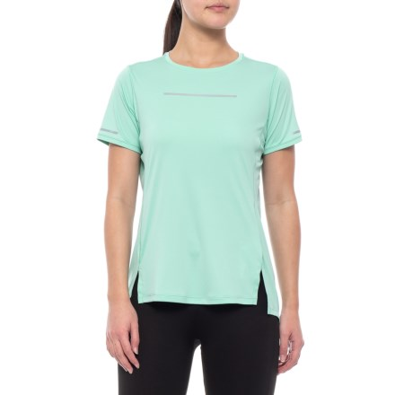 90b3c926af52b7 ASICS Lite Show Shirt - Short Sleeve (For Women) in Opal Green - Closeouts