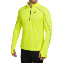 ASICS Lite-Show Shirt - Zip Neck, Long Sleeve (For Men) in Safety Yellow - Closeouts