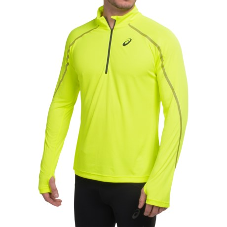 ASICS Lite Show Shirt Zip Neck, Long Sleeve (For Men)
