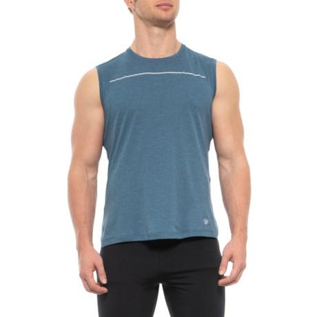 084b271f4267d ASICS Lite-Show T-Shirt - Sleeveless (For Men) in Dark Blue