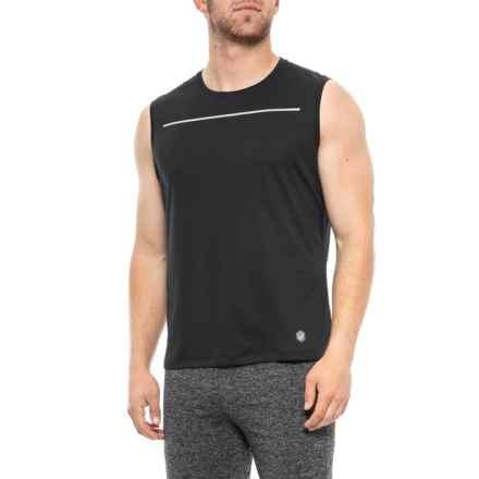 a66b3a71c27da ASICS Lite-Show T-Shirt - Sleeveless (For Men) in Performance Black