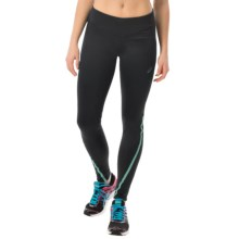 ASICS Lite-Show Tights (For Women) in Black/Aqua Mint - Closeouts