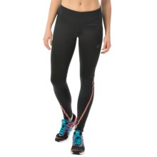 ASICS Lite-Show Tights (For Women) in Black/Living Coral - Closeouts