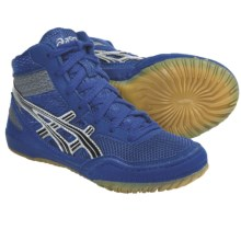 Asics Matflex 3 GS Wrestling Shoes (For Kids and Youth) in Royal/Black/Silver - Closeouts