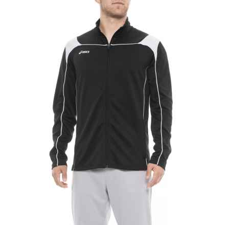 ASICS Miles Warm-Up Jacket (For Men) in Black/White - Closeouts