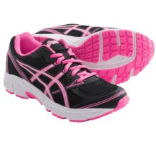 Asics Patriot 6 GS Running Shoes (For Girls) in Black/Hot Pink/White - Closeouts