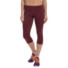 ASICS PR Capris (For Women) in Deep Ruby Heather - Closeouts