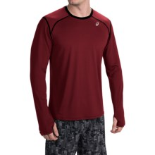 ASICS PR Lyte Shirt - Long Sleeve (For Men) in Deep Ruby - Closeouts