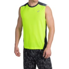 ASICS PR Lyte Shirt Tank Top (For Men) in Safety Yellow/Steel - Closeouts