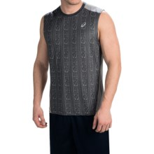 ASICS PR Lyte Shirt Tank Top (For Men) in Steel Print/Frost - Closeouts