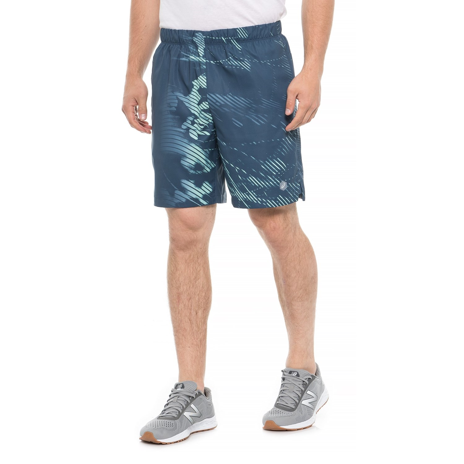 "641b41553361 ASICS Printed Shorts - 7"" (For Men) in Shadow Dark Blue ..."