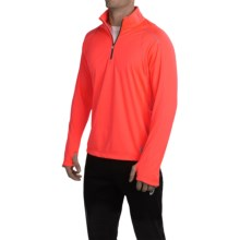 ASICS Quarter-Zip Running Shirt - Zip Neck, Long Sleeve (For Men) in Firey Flame - Closeouts