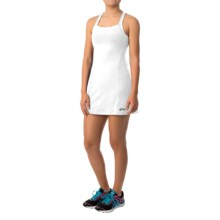 ASICS Rally Racerback Dress - Built-In Shelf Bra, Sleeveless (For Women) in White/White - Closeouts