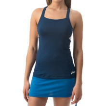 ASICS Rally Tank Top - Built-In Bra (For Women) in Navy/White - Closeouts