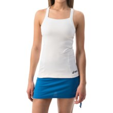 ASICS Rally Tank Top - Built-In Bra (For Women) in White/White - Closeouts