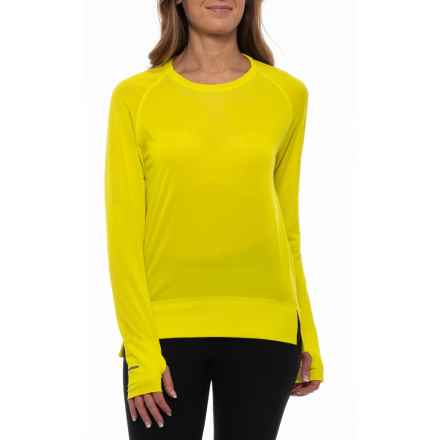 ASICS Seamless Shirt - Long Sleeve (For Women) in Sulphur Spring - Closeouts