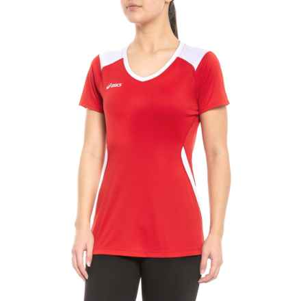 70bb8febdbf6 ASICS Set Volleyball Jersey - Short Sleeve (For Women) in Red/White -